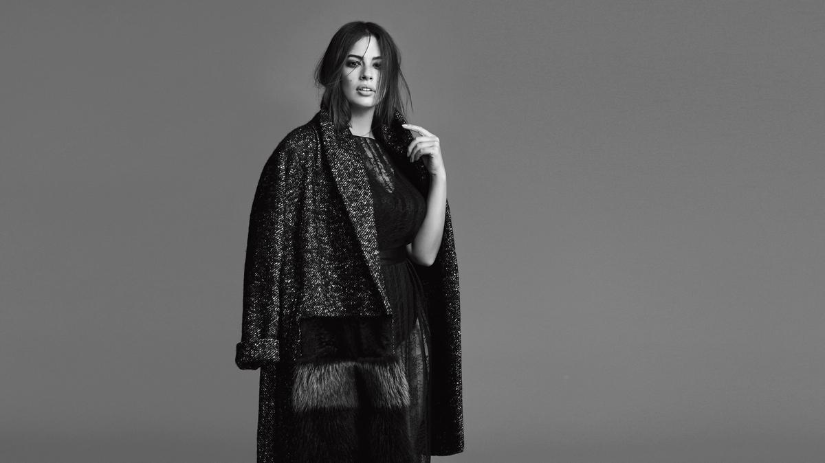 Plus-size advocate and model Ashley Graham in a campaign for Marina Rinaldi. (Photo: wardrobetrendsfashion.com)