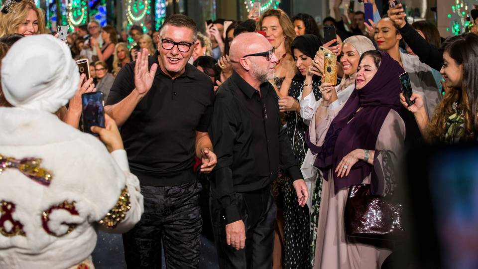 Dolce & Gabbana have regularly held shows around the world to engage global clientele, such as at Dubai Mall, pictured. Photo: harpersbazaararabia.com