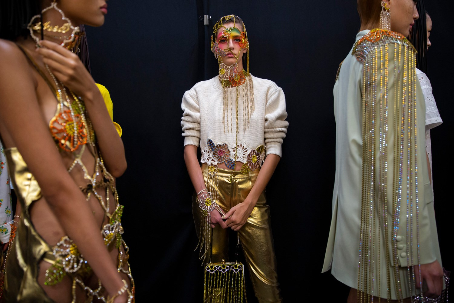 Chains and embellished adornment were in excess at Area SS20. (Photo: theimpression.com)