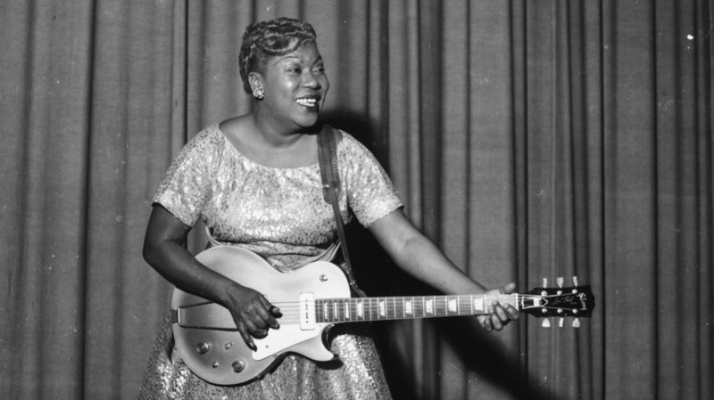The Pyer Moss show was a tribute to Sister Rosetta Tharpe, considered as the Godmother of Rock 'n' Roll.