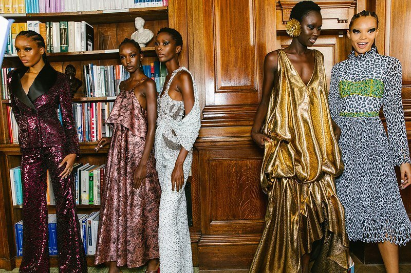 Halpern SS20 backstage at London Fashion Week. (Photo: Corey Tenold for Vogue.com)