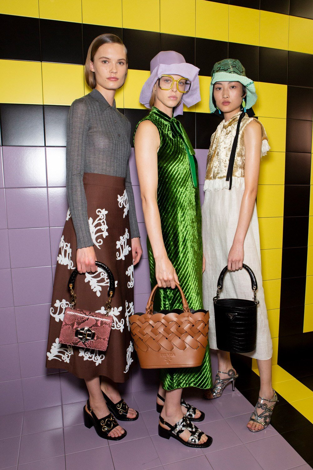 Prada's unique brand of 'ugly chic' backstage at Milan Fashion Week SS20 (Photo: theimpression.com)