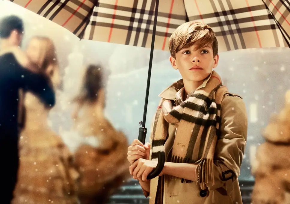 Burberry's Christmas 2013 advertising campaign featuring Romeo Beckham.