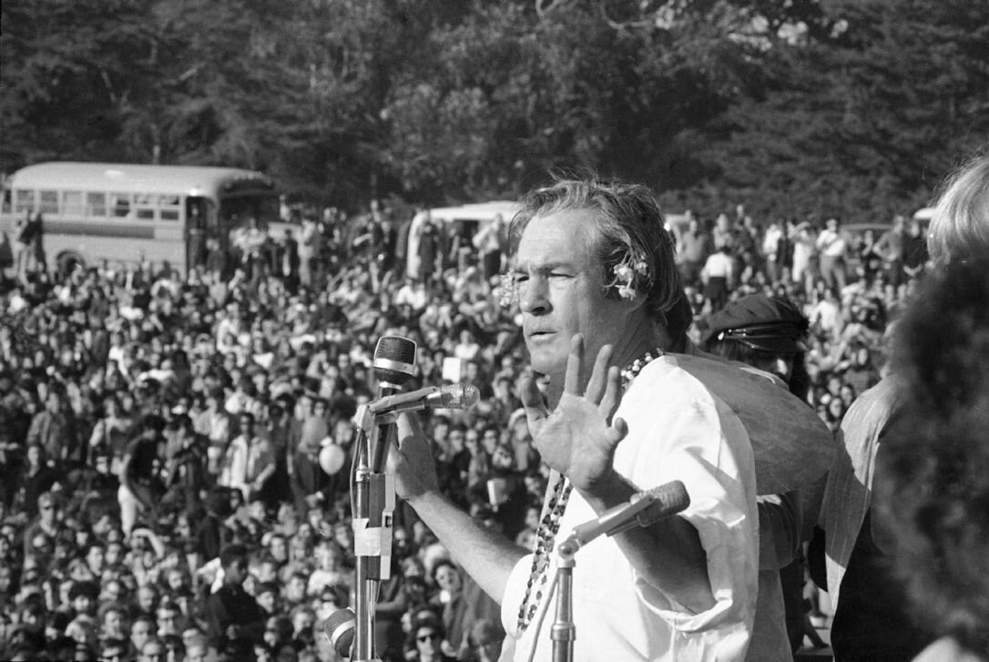 """""""Turn on, tune in, drop out""""  is a counterculture-era phrase popularized by Timothy Leary in 1966. In 1967, Leary spoke at the Human Be-In, a gathering of 30,000 hippies in San Francisco's Golden Gate Park and phrased the famous words."""
