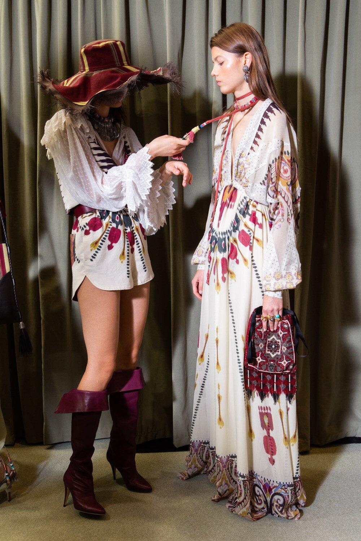 Etro SS20 backstage at Milan Fashion Week. (Photo: theimpression.com)