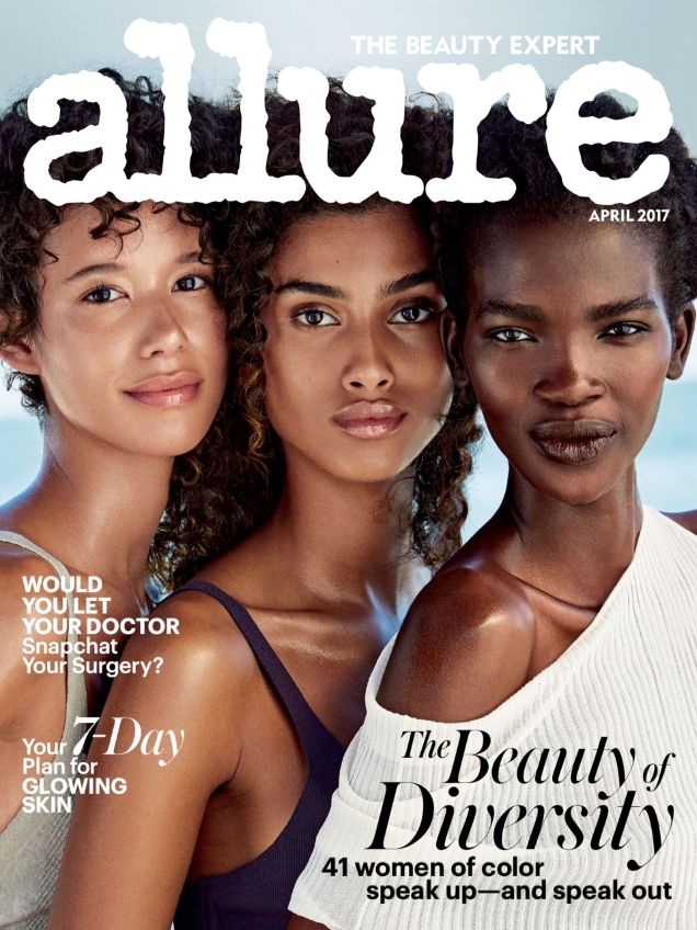 """A beautiful cover from Allure. If only they were simply featured, and not to front a """"Beauty of Diversity"""" special."""