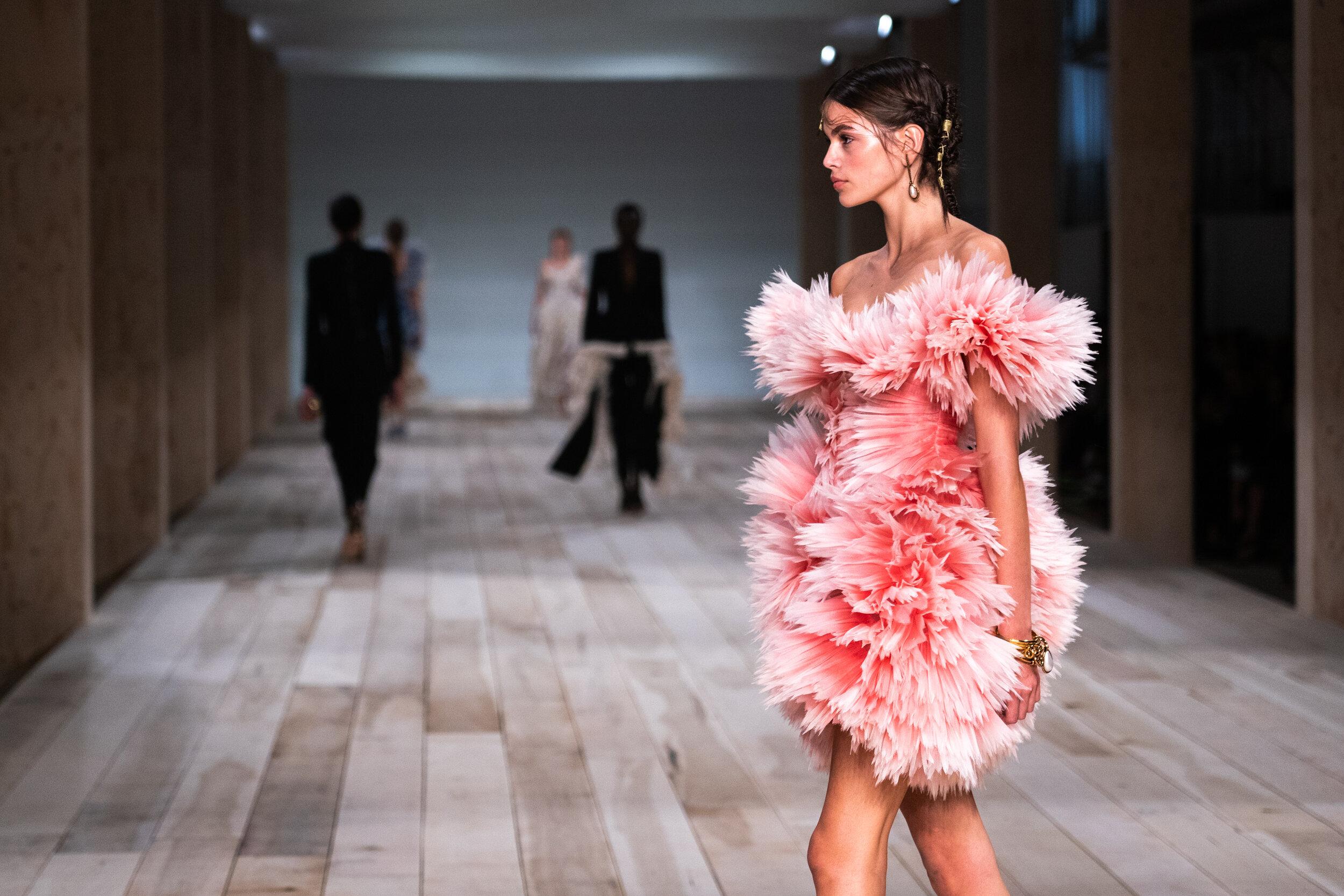 Kaia Gerber at Alexander McQueen at Paris Fashion Week. (Photo: theimpression.com)