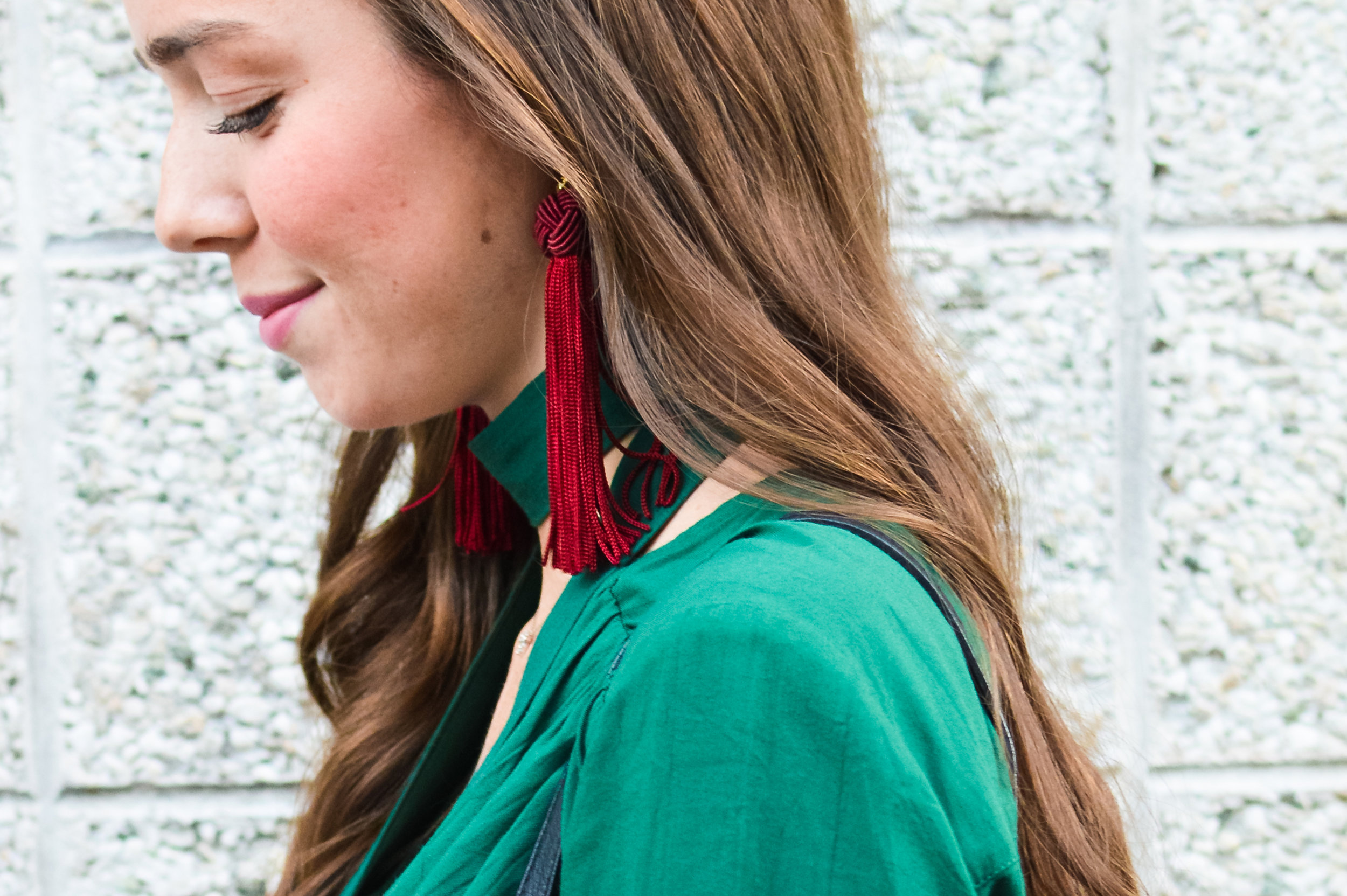 fashion blogger lcb style green dress tassel earring  (30 of 30).jpg