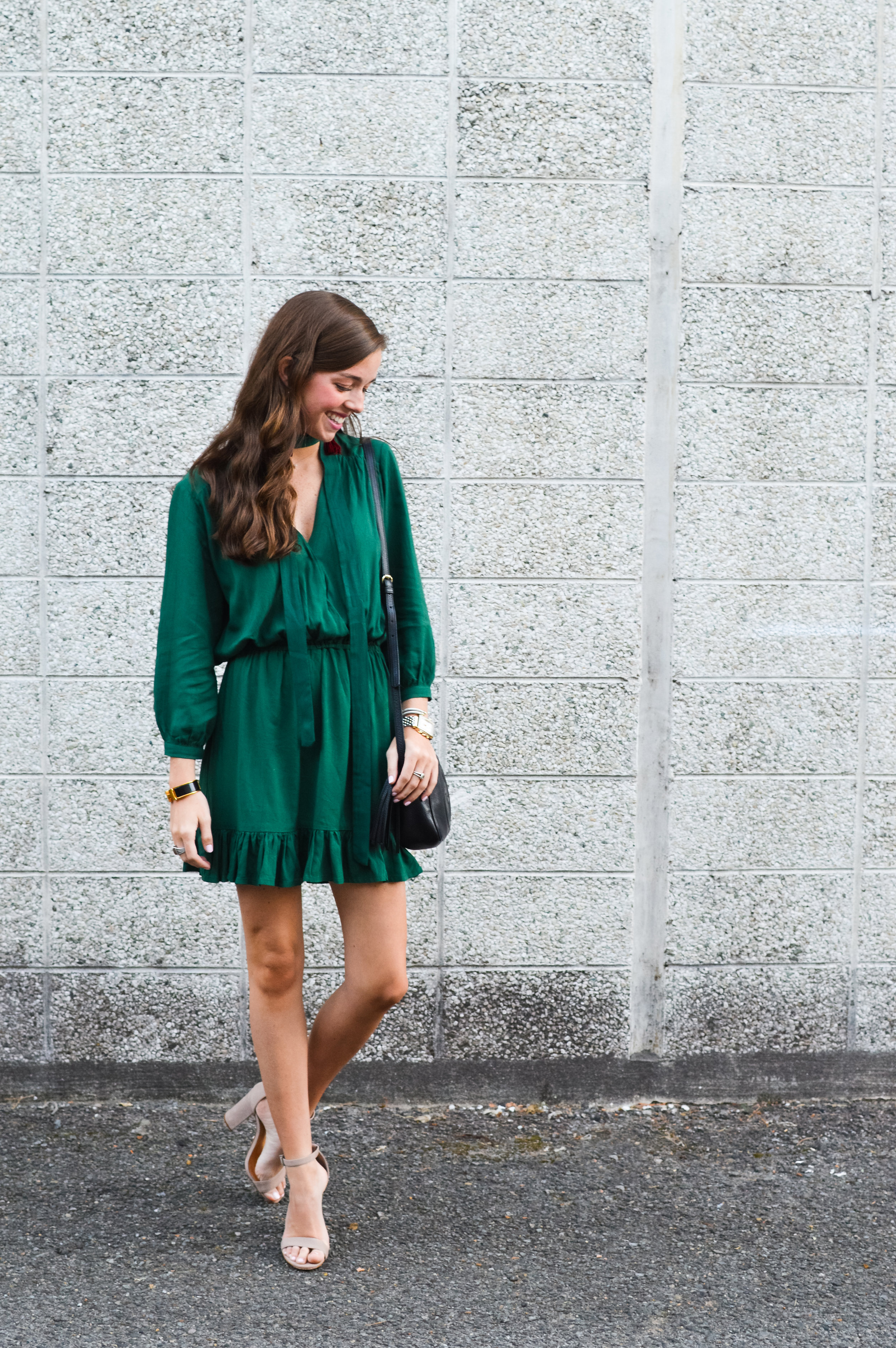fashion blogger lcb style green dress tassel earring  (3 of 30).jpg