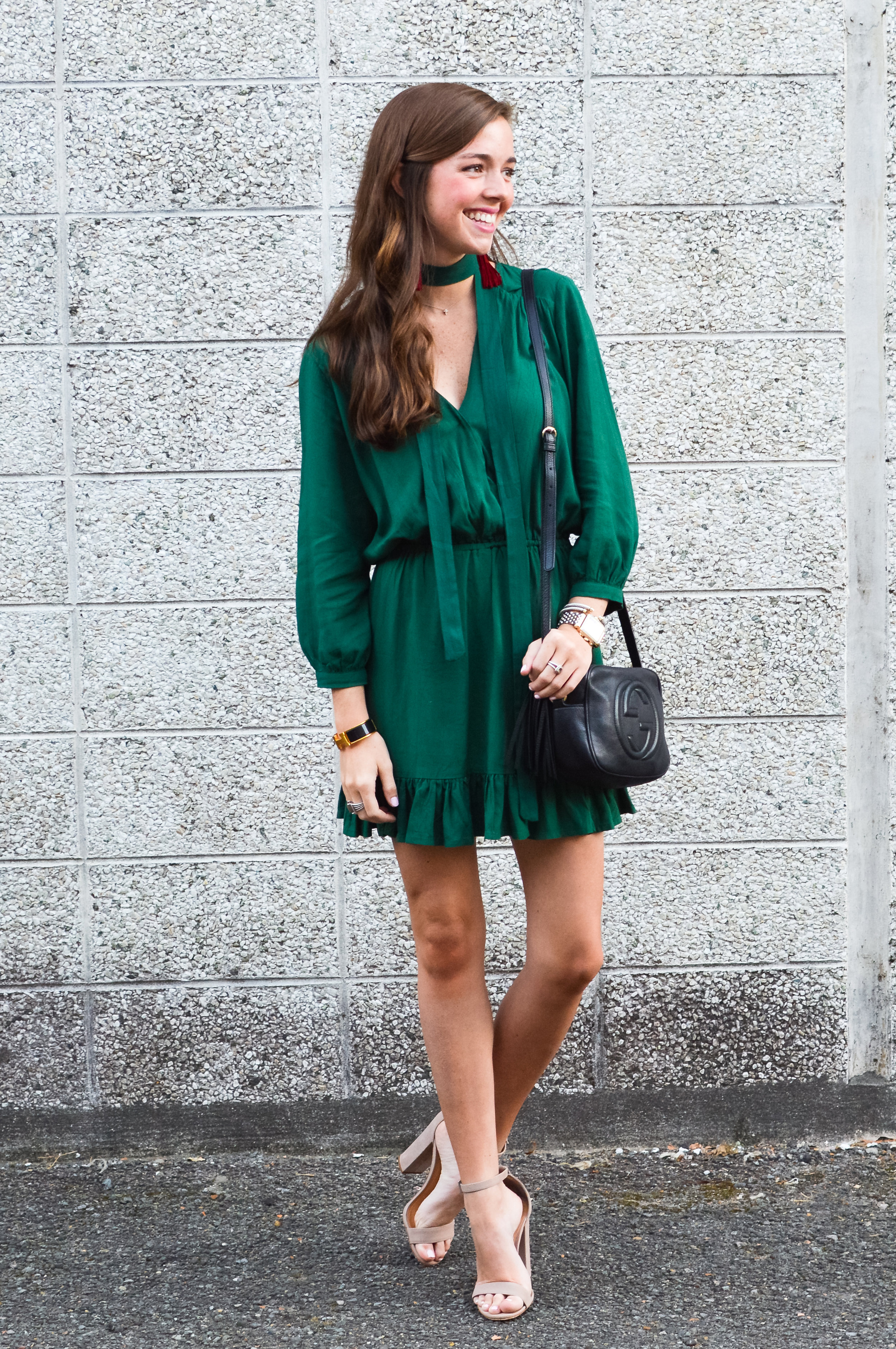 fashion blogger lcb style green dress tassel earring  (10 of 30).jpg