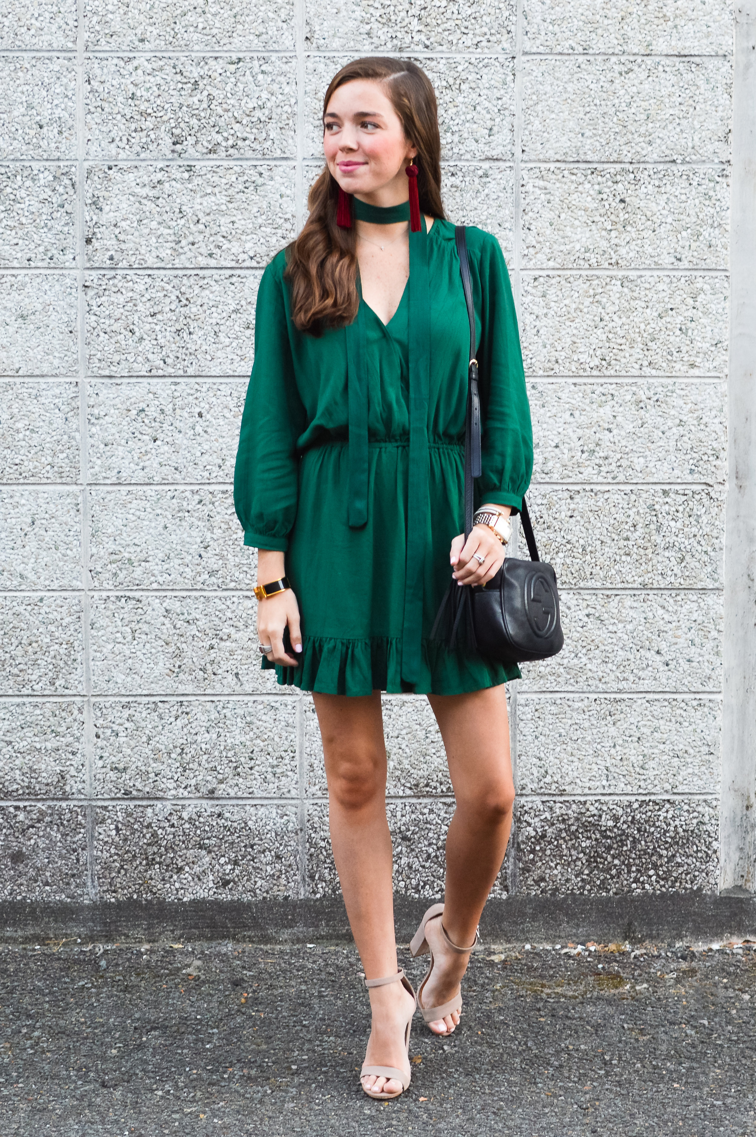 fashion blogger lcb style green dress tassel earring  (12 of 30).jpg