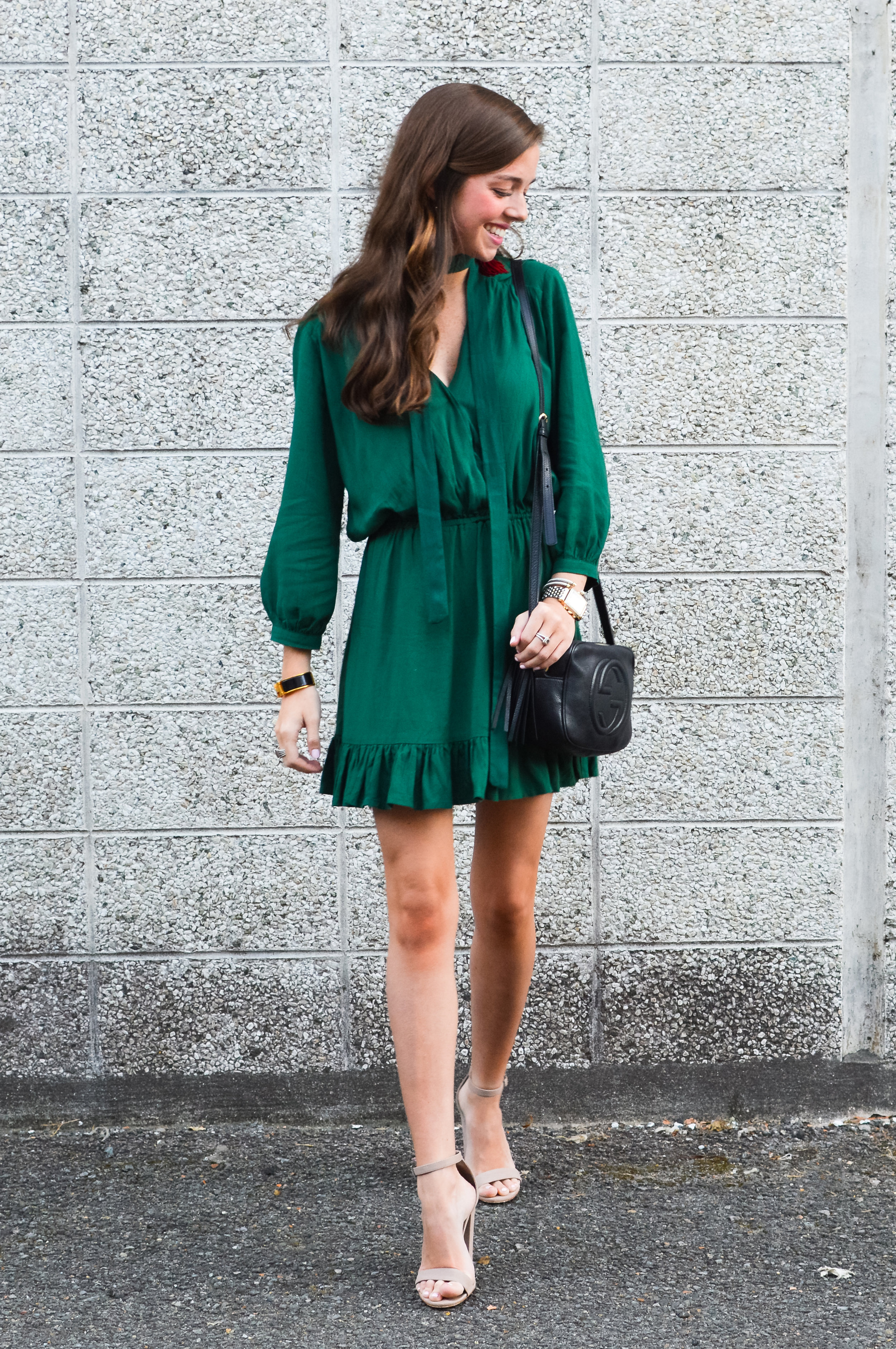 fashion blogger lcb style green dress tassel earring  (14 of 30).jpg