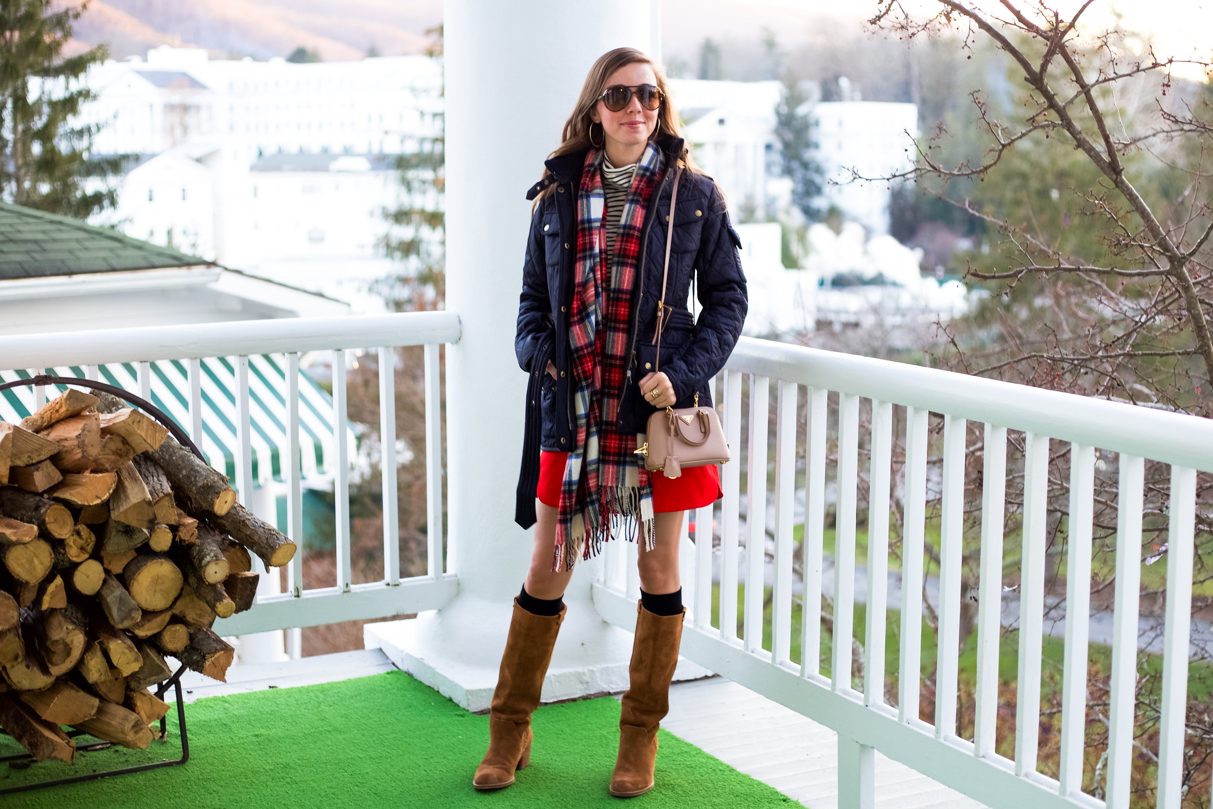 fashion blogger lcb style greenbrier resort christmas barbour international jacket (1 of 32).jpg