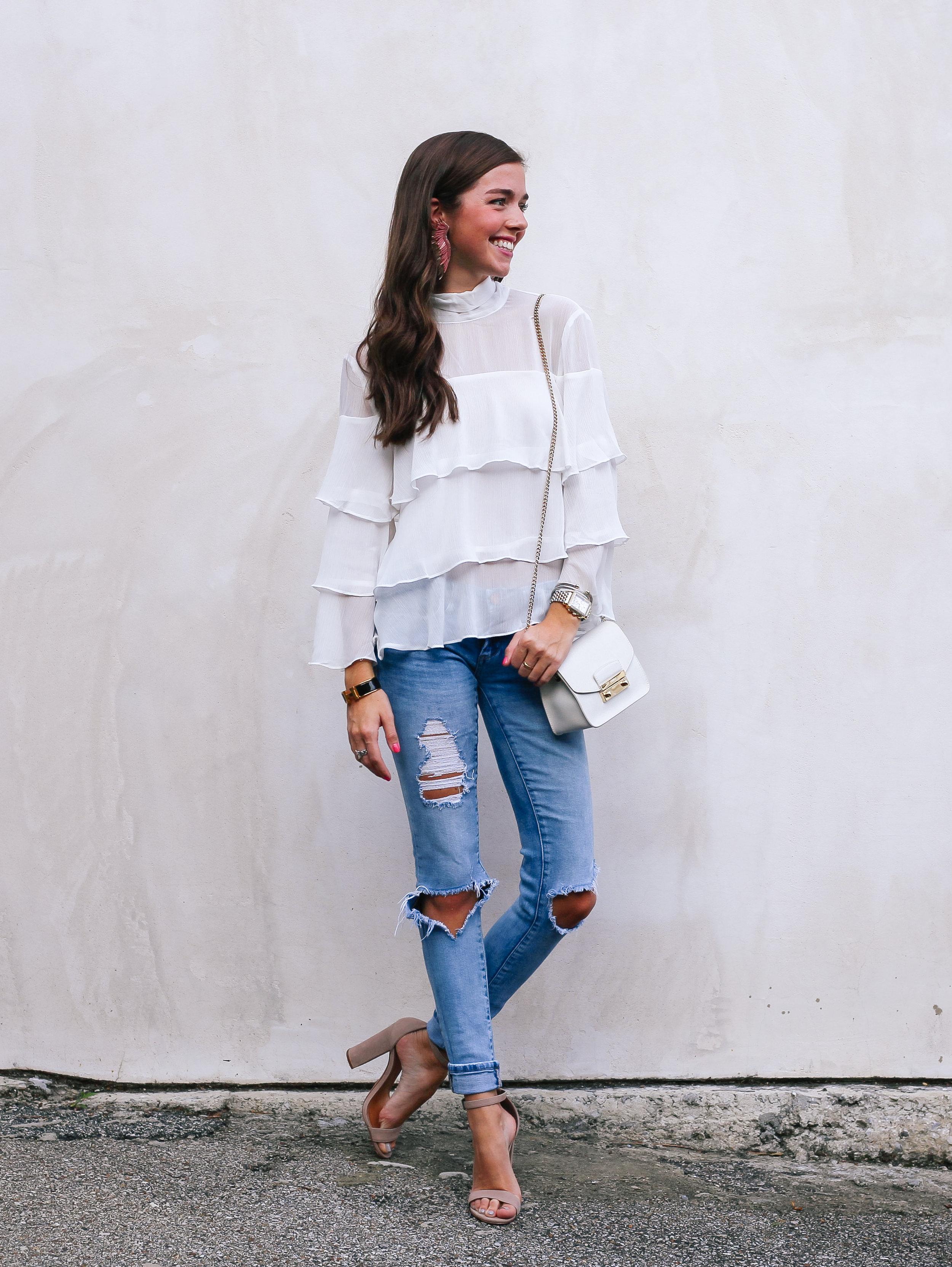 fashion blogger lcb style mignonne gavigan ruffle top schutz shoes (4 of 55).jpg