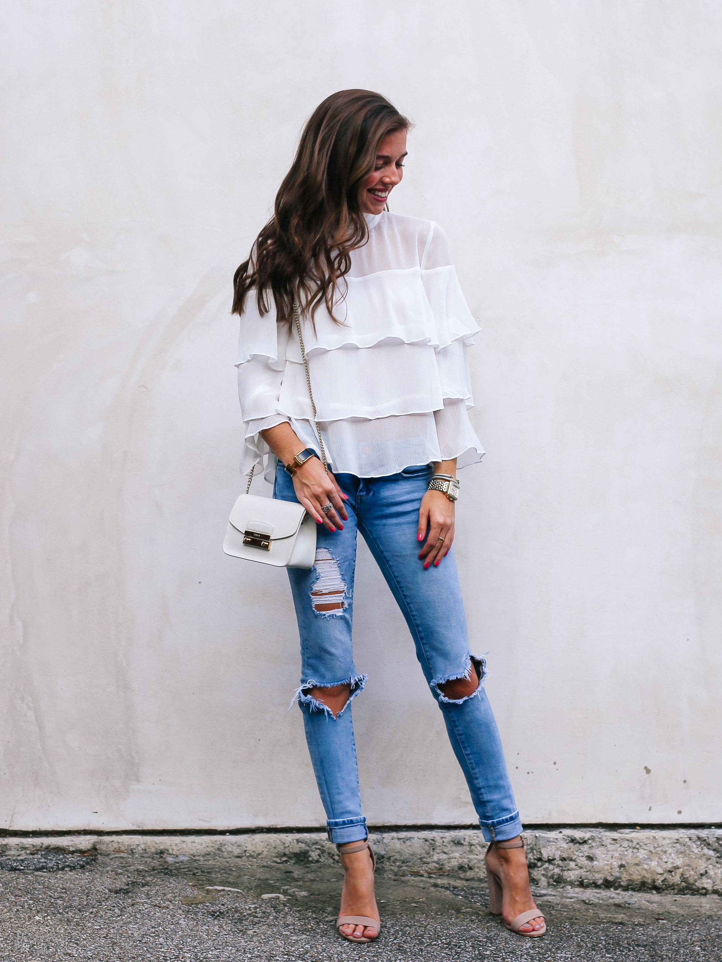 fashion blogger lcb style mignonne gavigan ruffle top schutz shoes (18 of 55).jpg