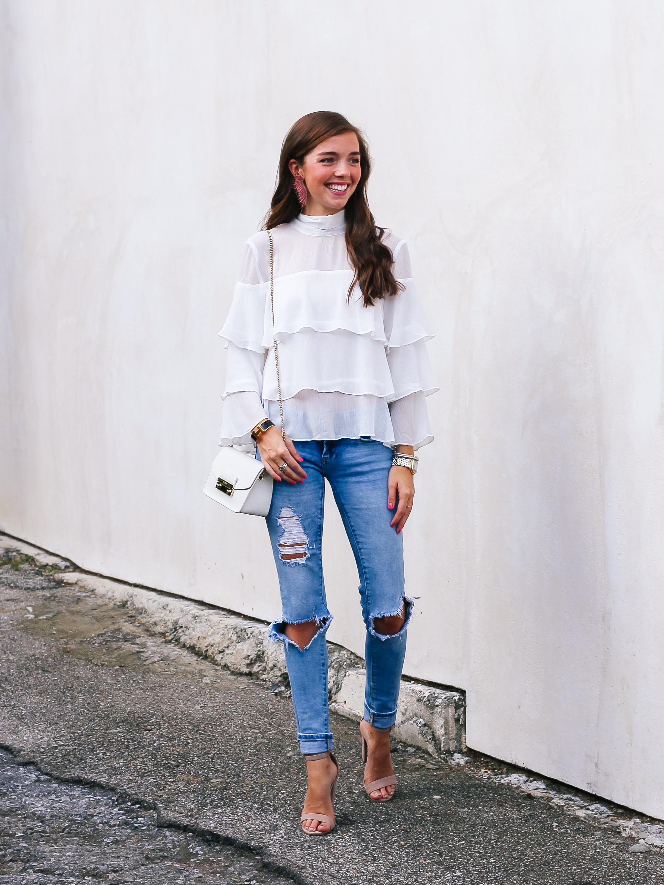fashion blogger lcb style mignonne gavigan ruffle top schutz shoes (20 of 55).jpg