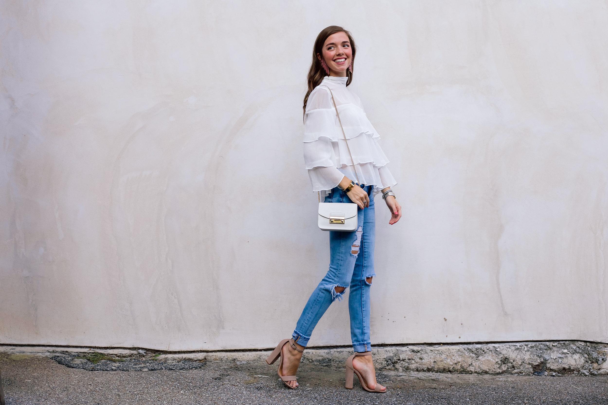 fashion blogger lcb style mignonne gavigan ruffle top schutz shoes (12 of 55).jpg