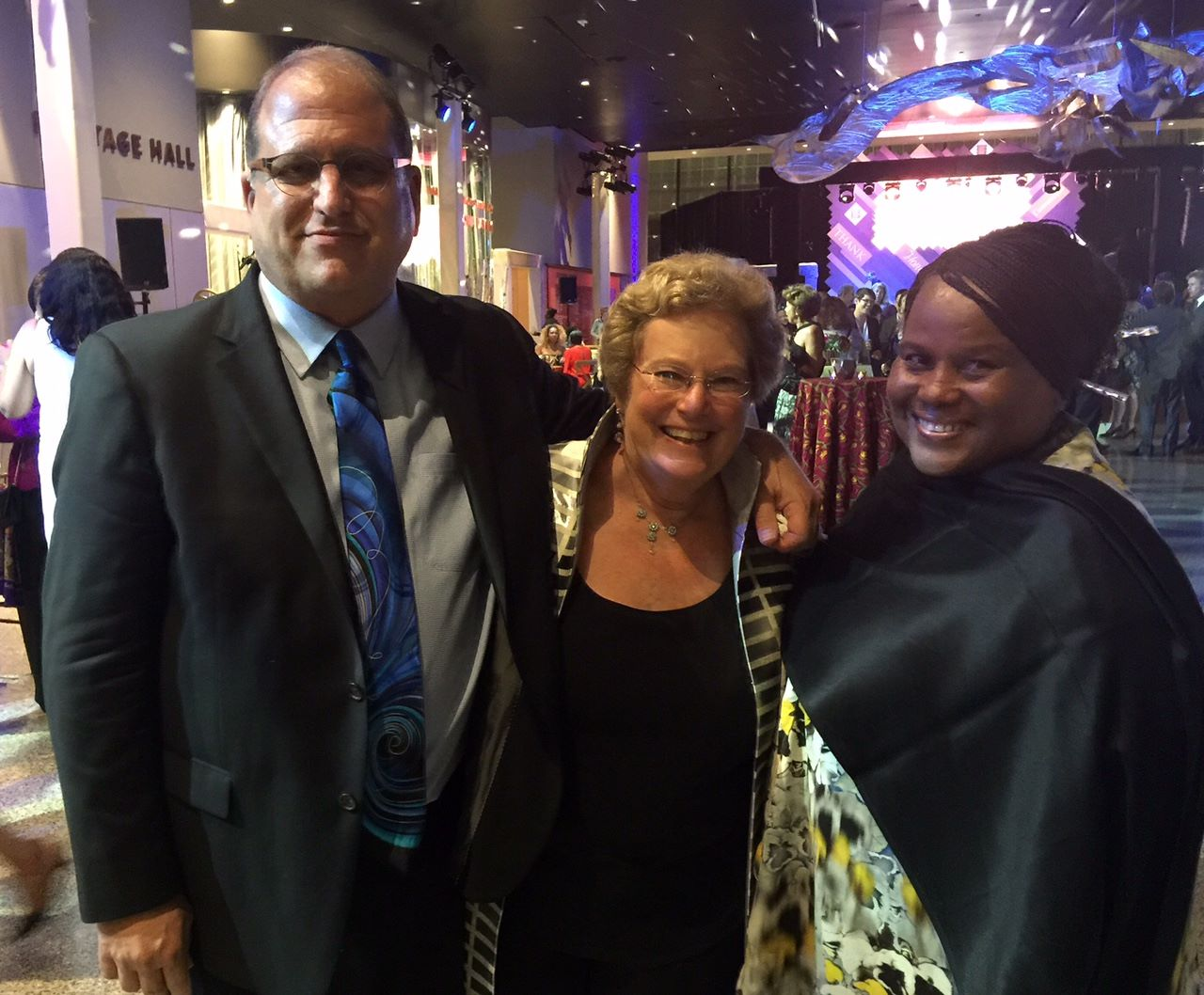 With Jonathan Logan and Sandra Evers-Manley (executive producers of   Agents of Change  ), at opening of National Museum of African American History and Culture)