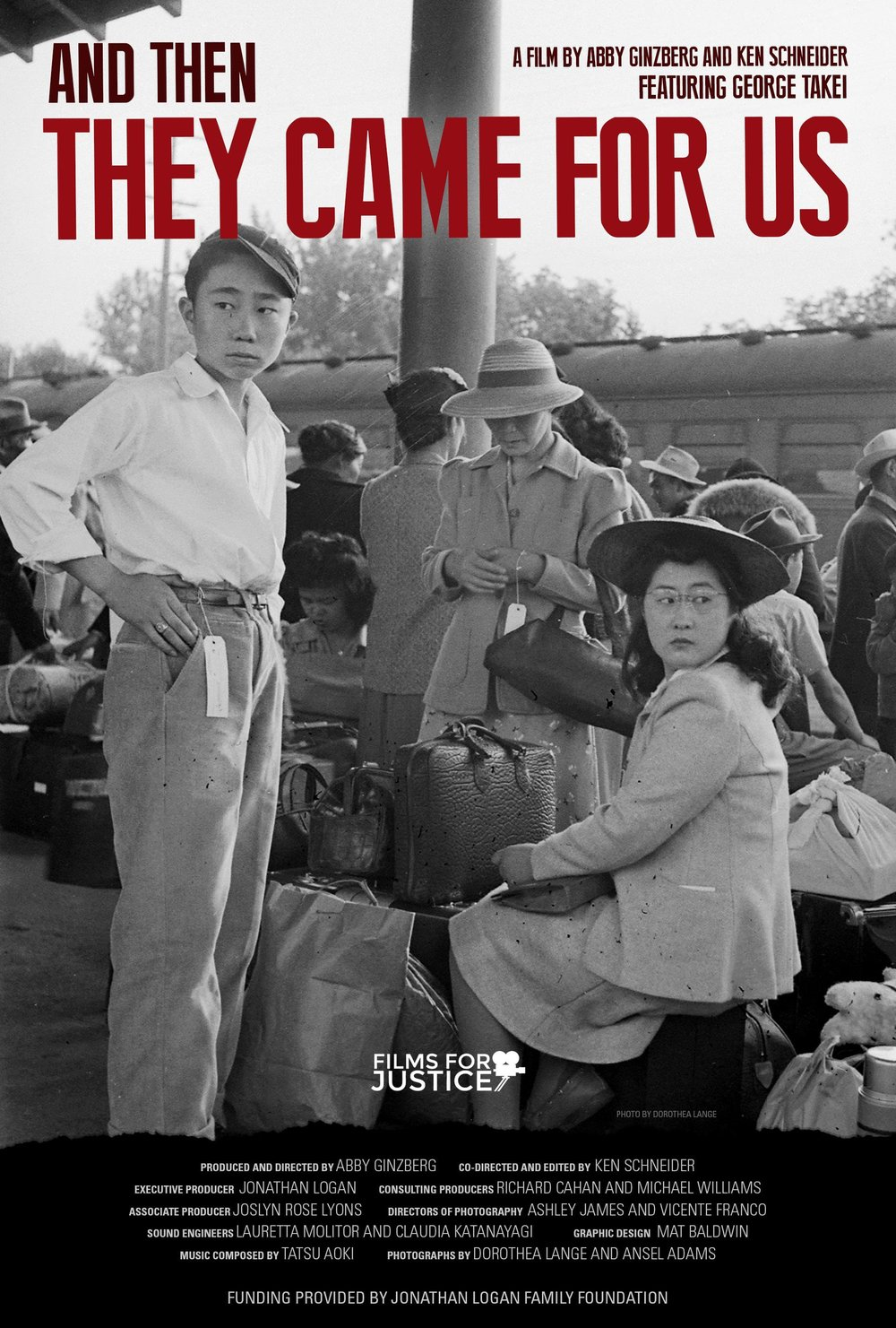 And Then They Came - Seventy-six years ago, Executive Order 9066 paved the way to the profound violation of constitutional rights that resulted in the forced incarceration of 120,000 Japanese Americans. Featuring George Takei and many others who were incarcerated, as well as newly rediscovered photographs of Dorothea Lange, And Then They Came for Us brings history into the present, retelling this difficult story and following Japanese American activists as they speak out against the Muslim registry and travel ban. Knowing our history is the first step to ensuring we do not repeat it. And Then They Came for Us is a cautionary and inspiring tale for these dark times.