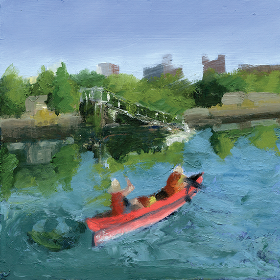 Red Canoe on the Gowanus Canal