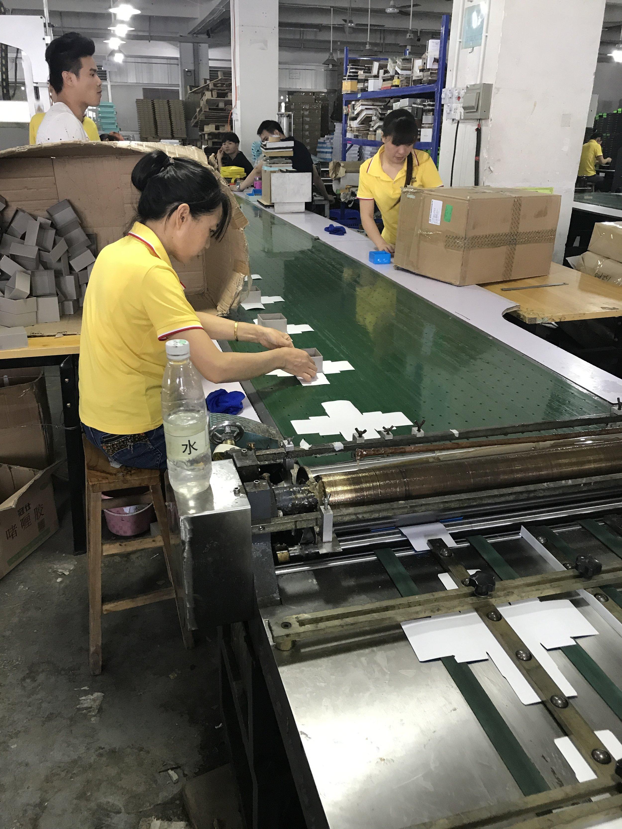 Box assembly line