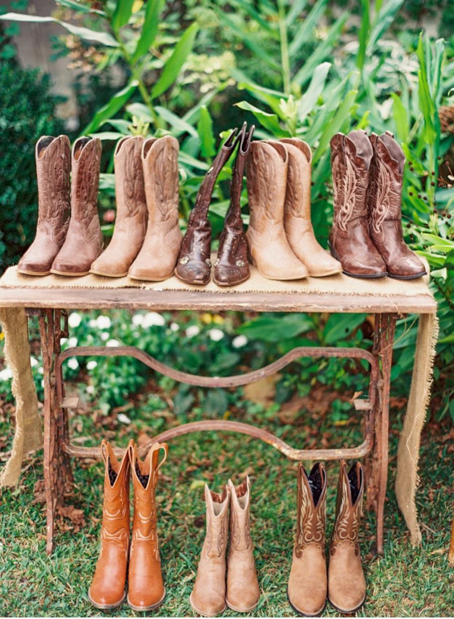 Cowboy Boots at Wedding