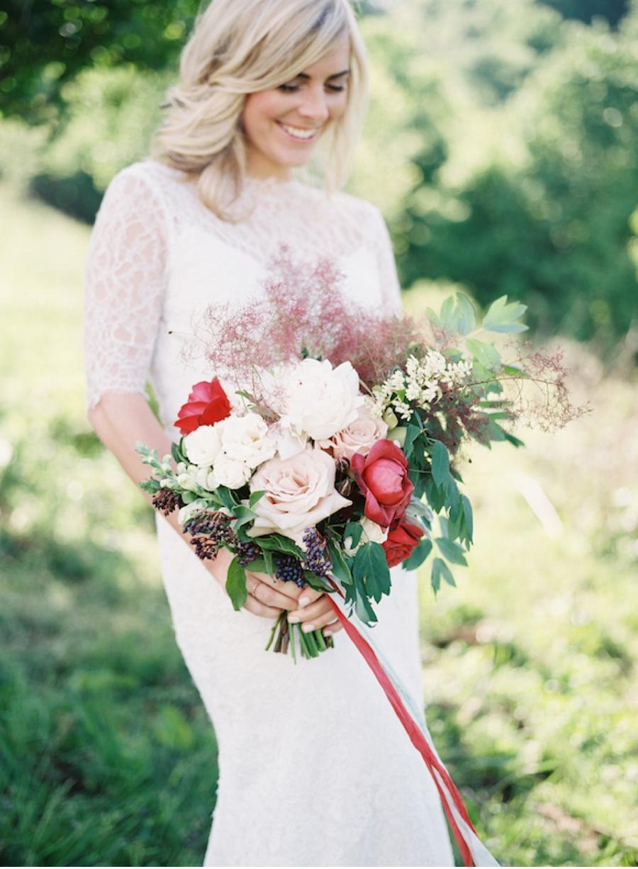 Bride-with-bridal-bouquet