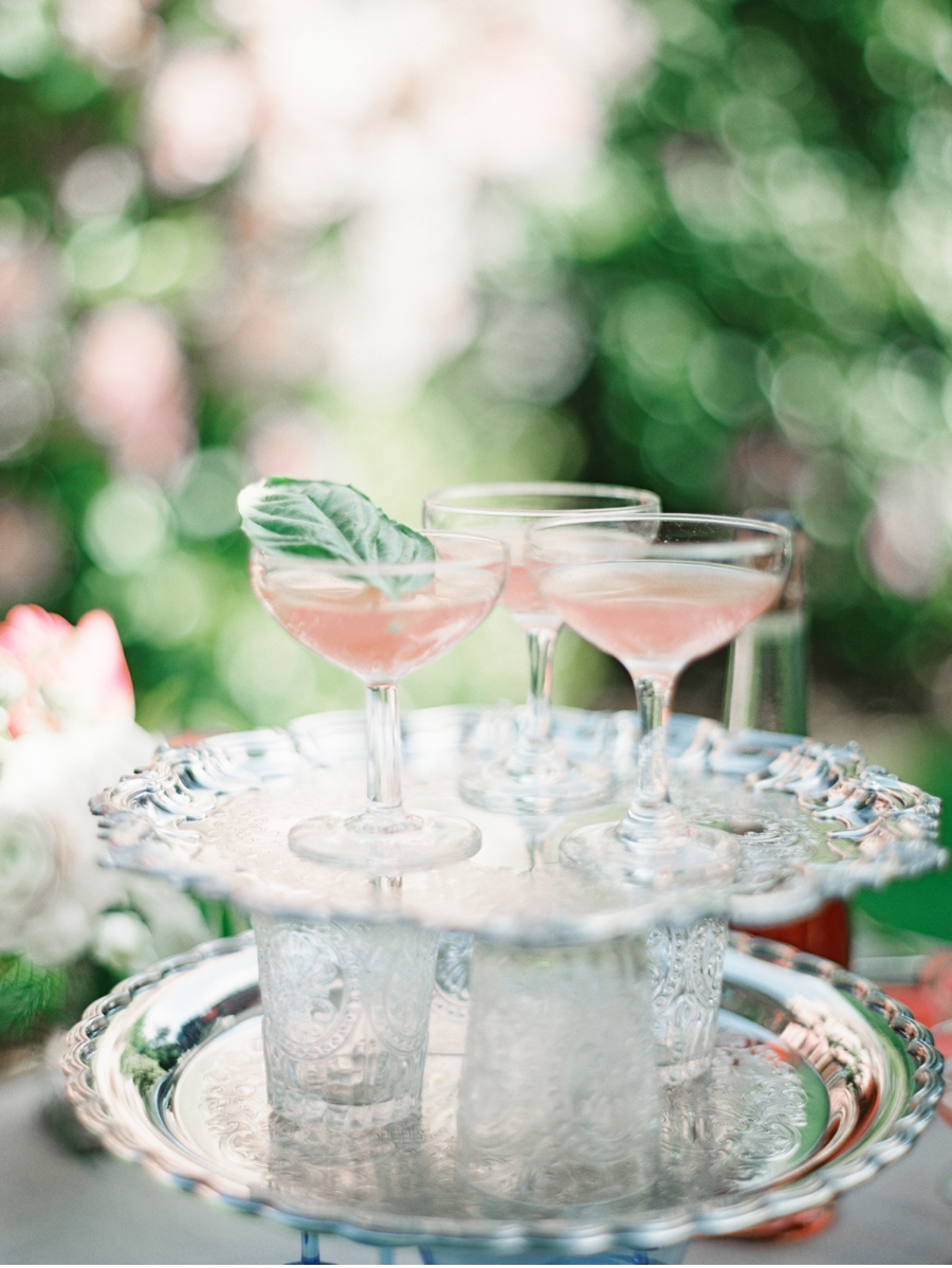 Pink-Cocktails-on-silver-platters