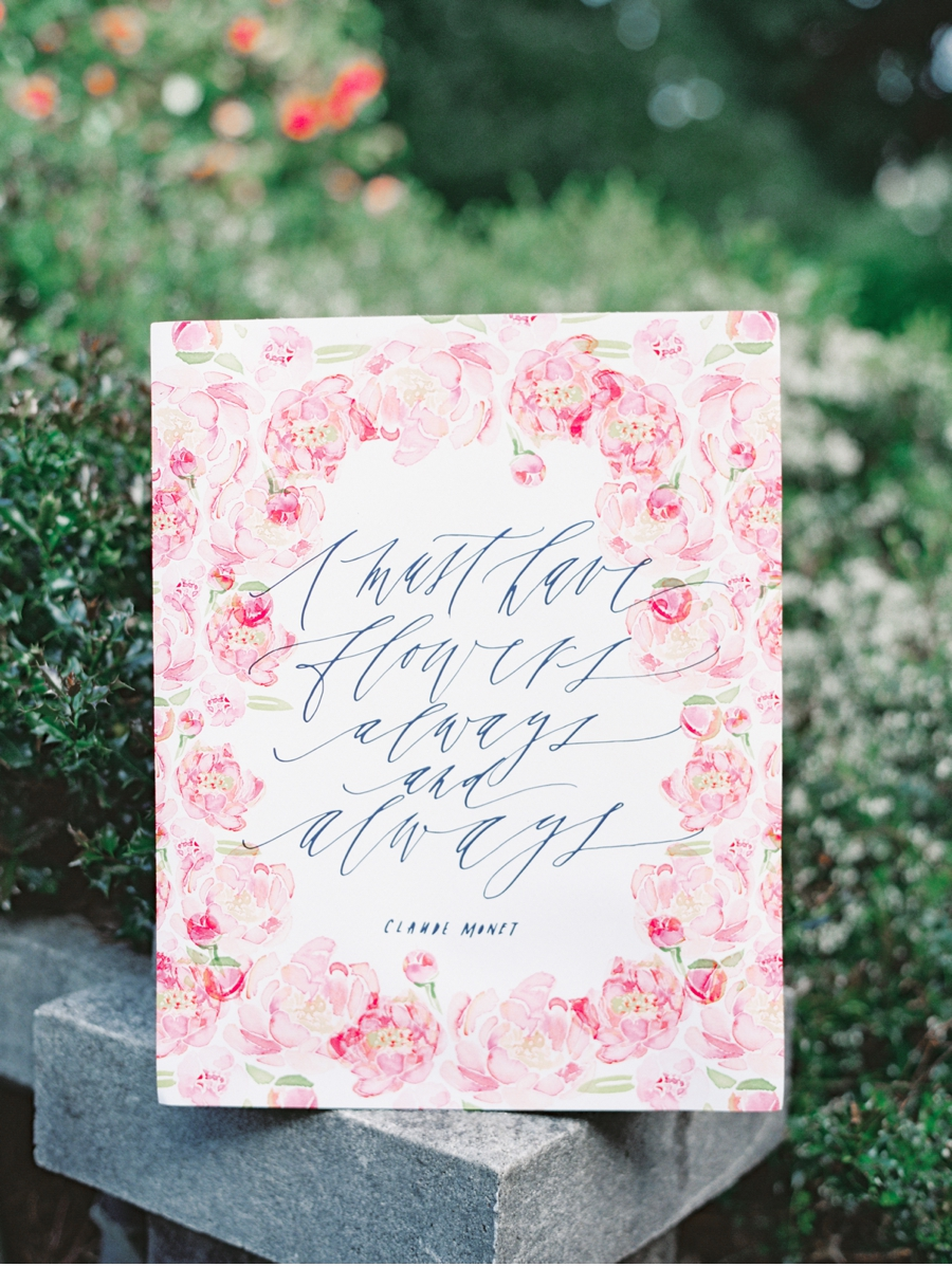 14. Spring floral designs by  Written Word Calligraphy  with photos by  Christie Graham Photography  . Check out the full shoot  here  .
