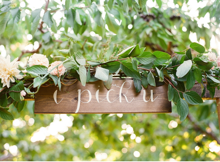 17. Spruce up an orchard setting with painted signage. Sign by Madison Heglund photography by  Blush Wedding Photography  . View more from this post  here  .
