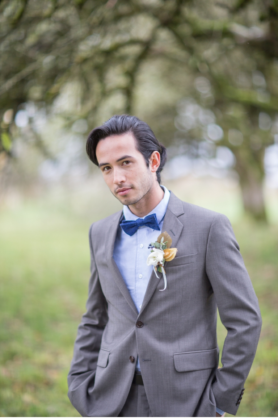 Blue-and-Grey-Groom's-Attire