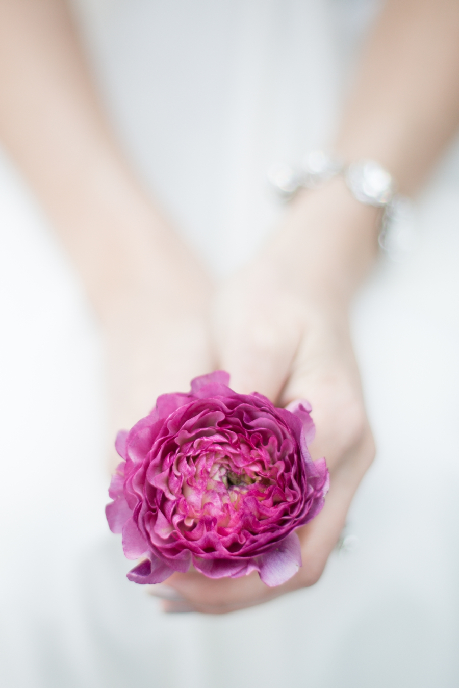 Bride-with-Pink-Flower