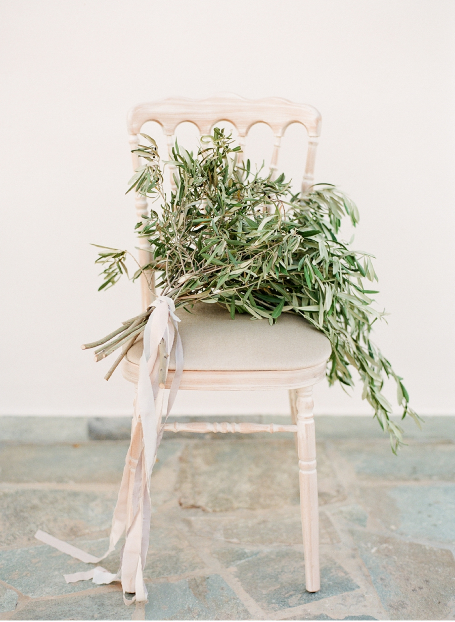 Olive-Bough-Bouquet-with-Chair