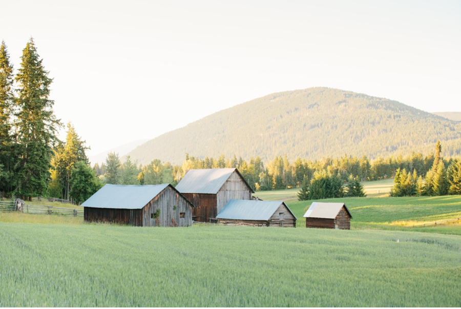 Salmon-Arm-Farm-with-Barns-at-Dusk
