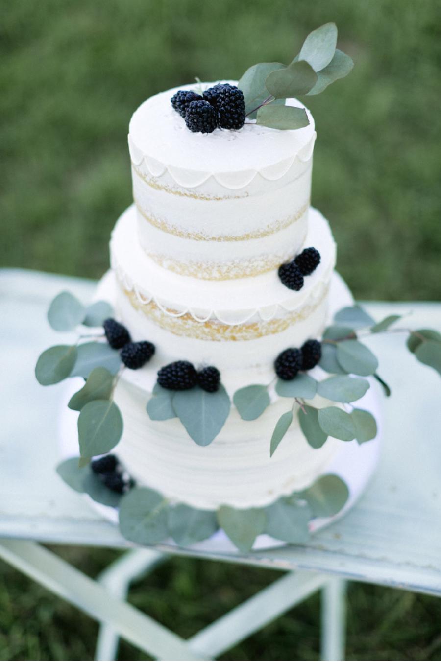 Three-Tiered-Wedding-Cake-with-Blackberries