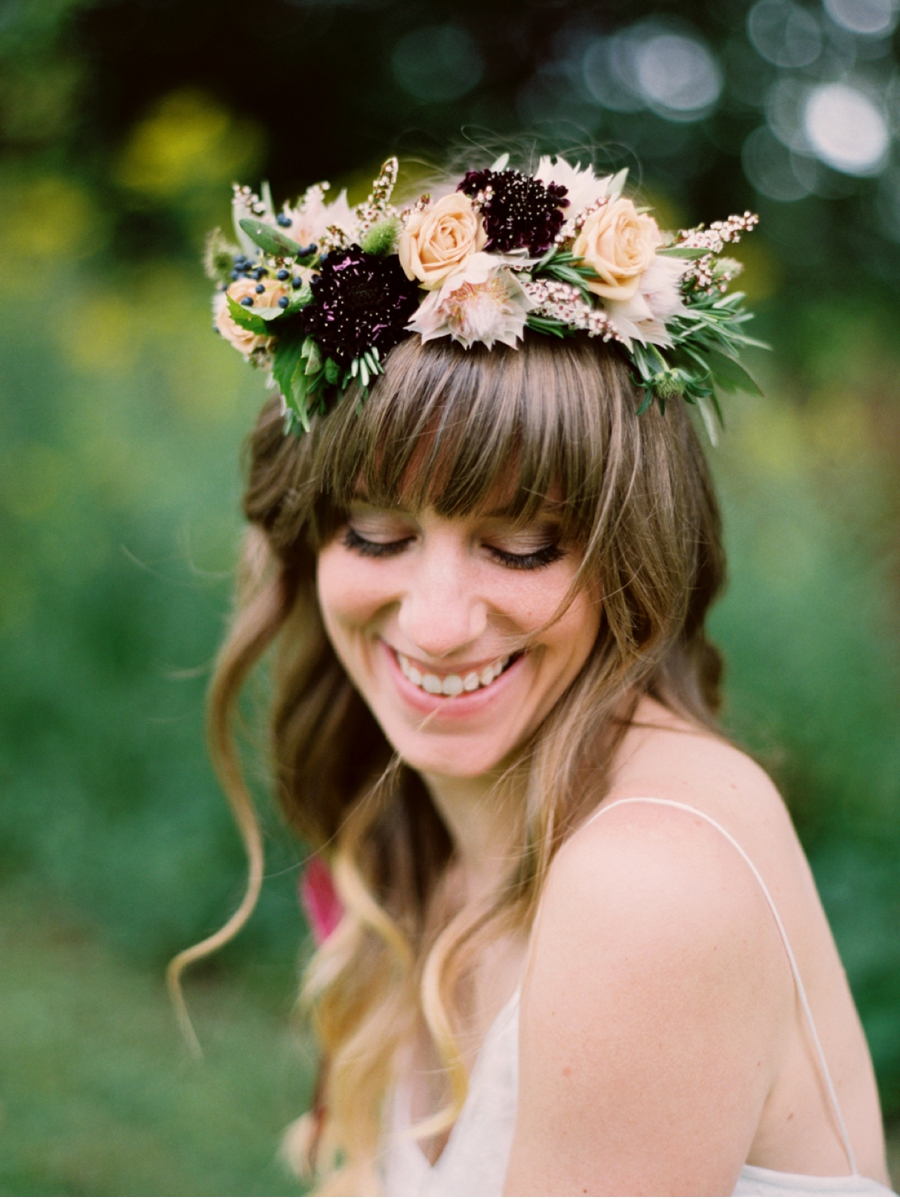Bride-with-Bohemian-Floral-Crown