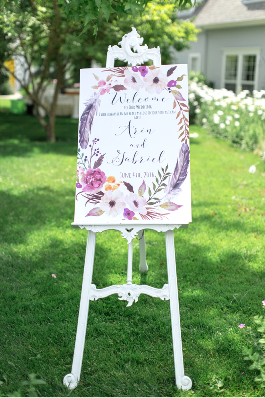 Wedding-Sign-for-Garden-Ceremony