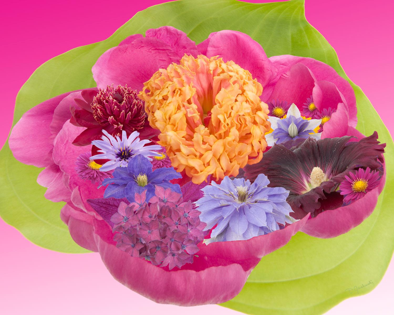 Peony-Bowl Bouquet