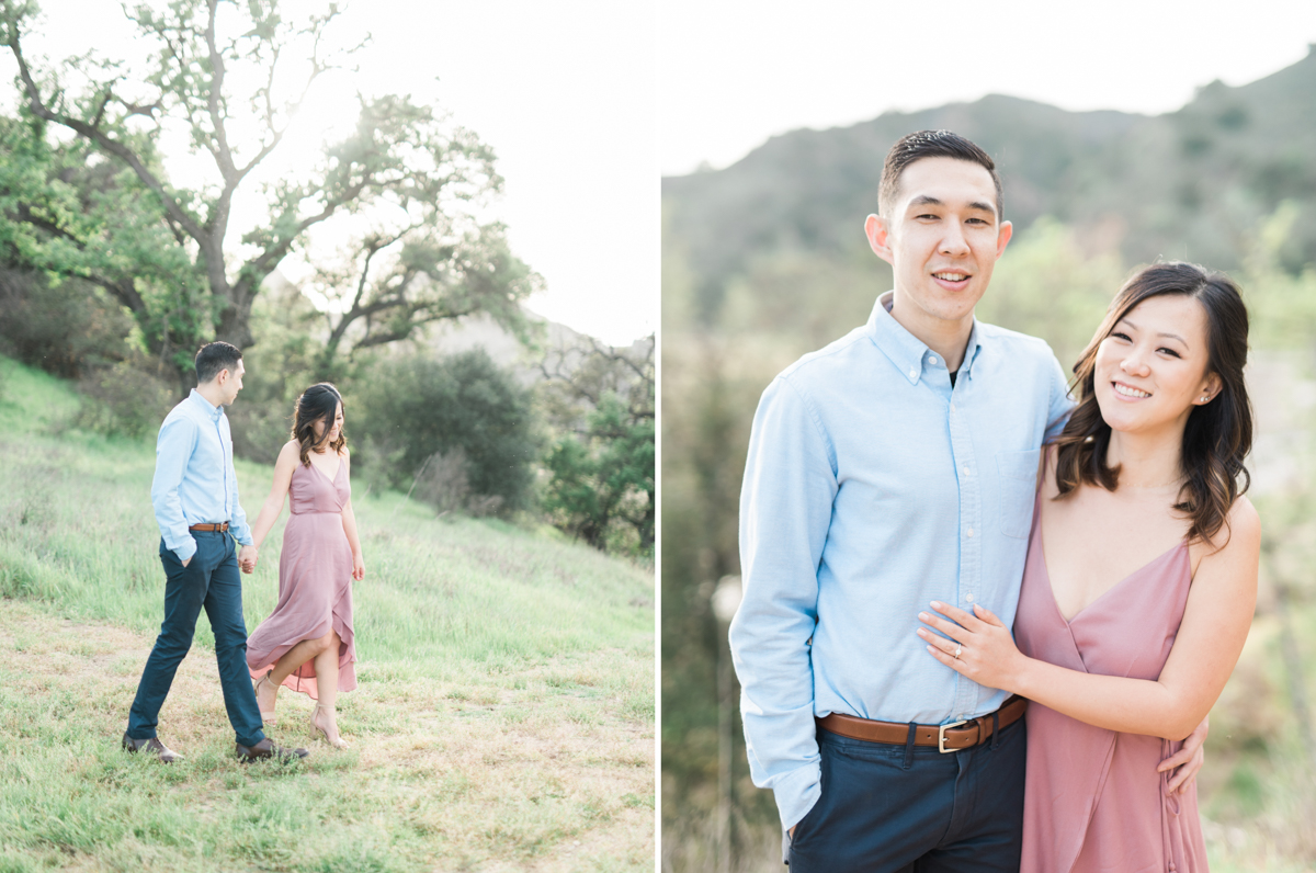 malibu creek state park engagement photo