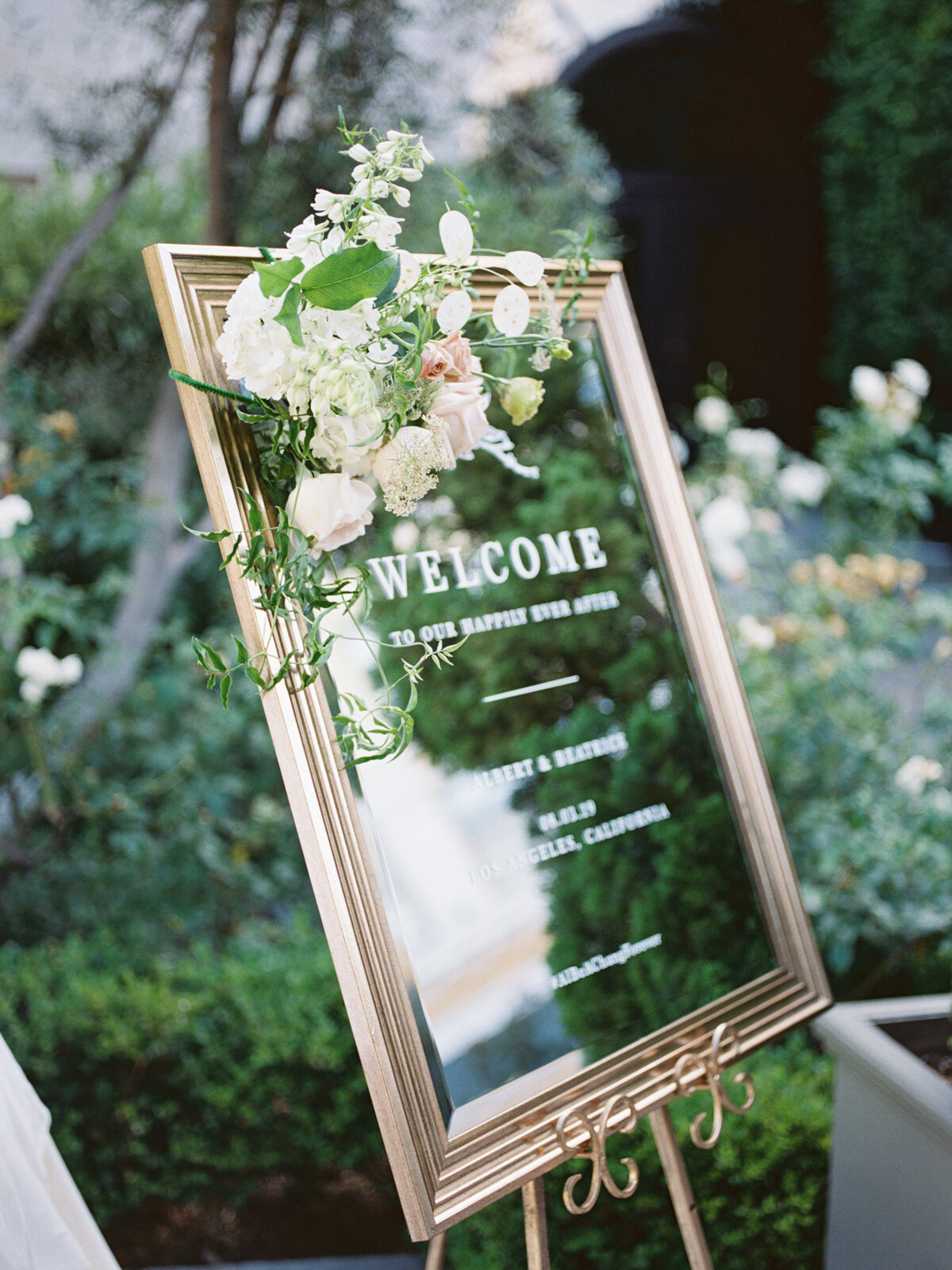 Welcome Sign for Vibiana Wedding