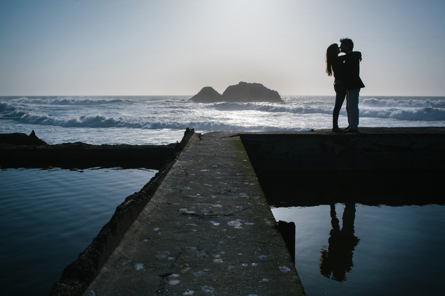 Sutro Baths engagement shoot with Neta and Pasha.