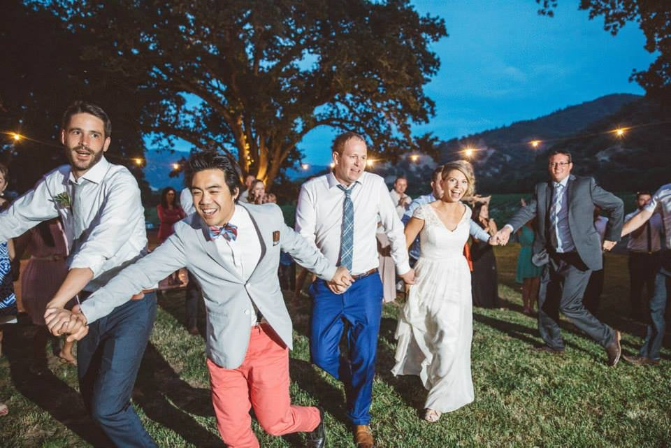 """""""She kept the adults (and the kids) dancing all night long. Allison helped us personalize the music and activities of our day to fit us to a tee.""""      Tarah & Simon at Nelson Family Vineyards"""