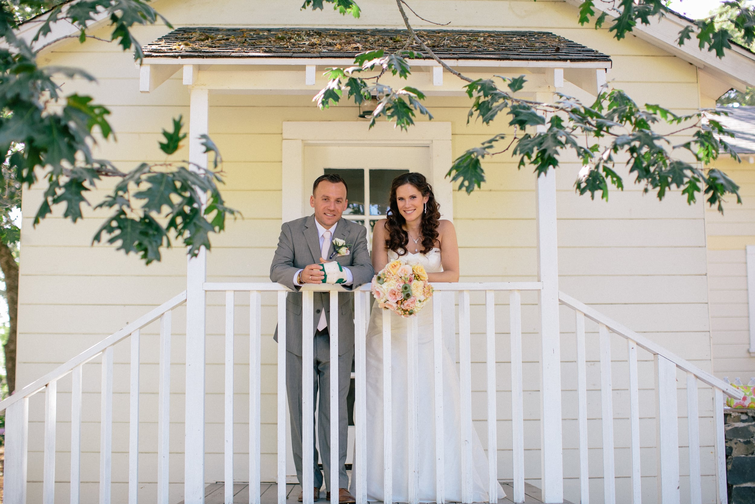 """""""We felt like Sami went above and beyond to get to know us, which made us that much more comfortable giving her full artistic freedom on the day of our wedding.""""      Emily & Jared at Annadale Estates"""