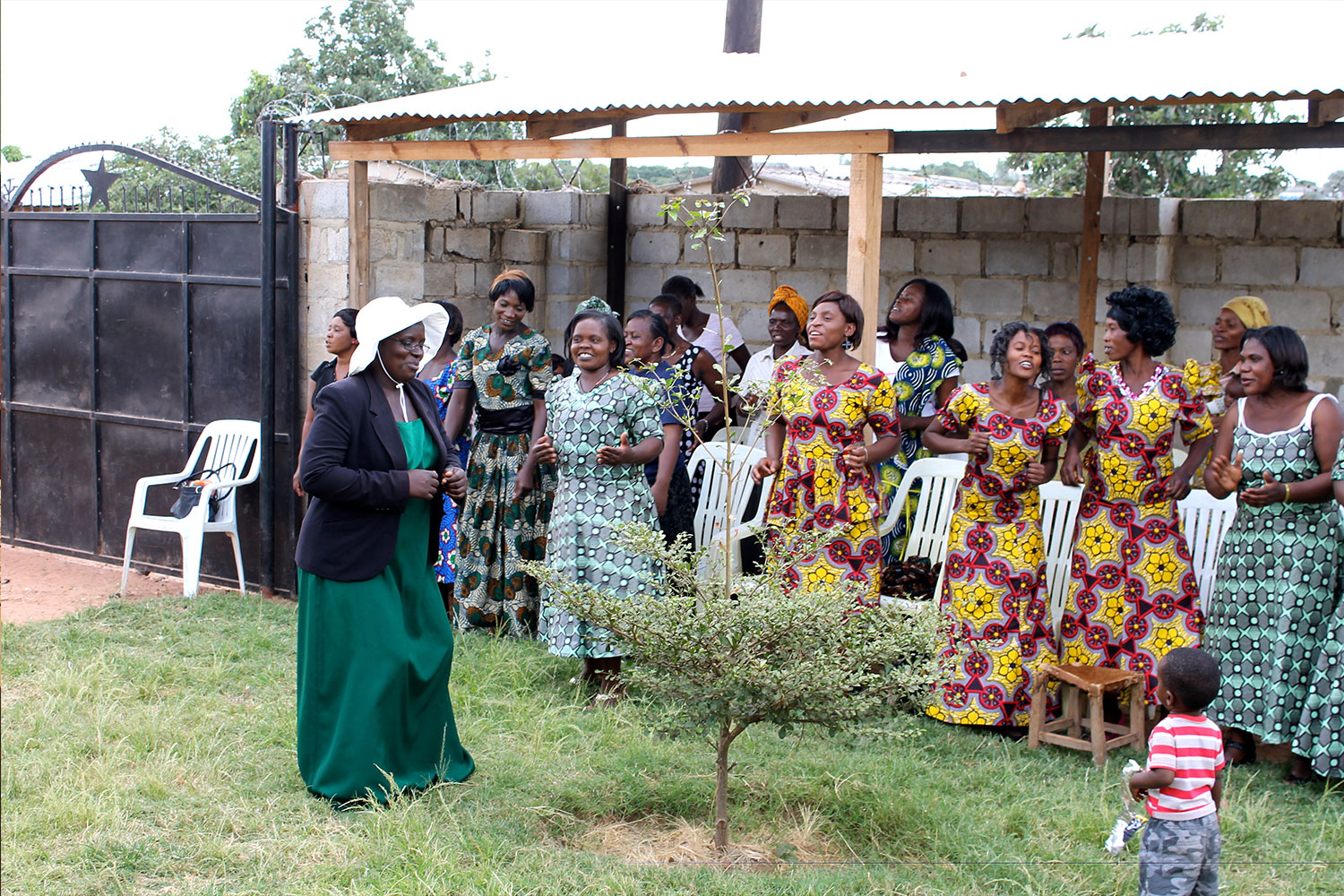 The CiH women nominate a Director of Ceremonies to lead the graduation day. Ireen (a current student, here in green), did a fabulous job leading us in singing, dancing, skits, and making sure all events of the day ran smoothly. You're the best, Ireen!