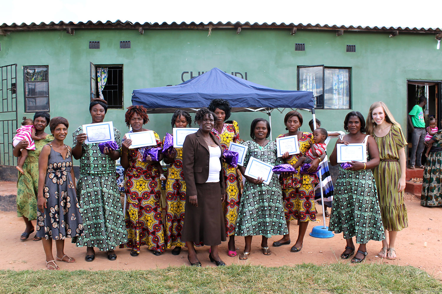 CiH Staff with the Class of March 2015 Graduates. Congratulations, ladies!!