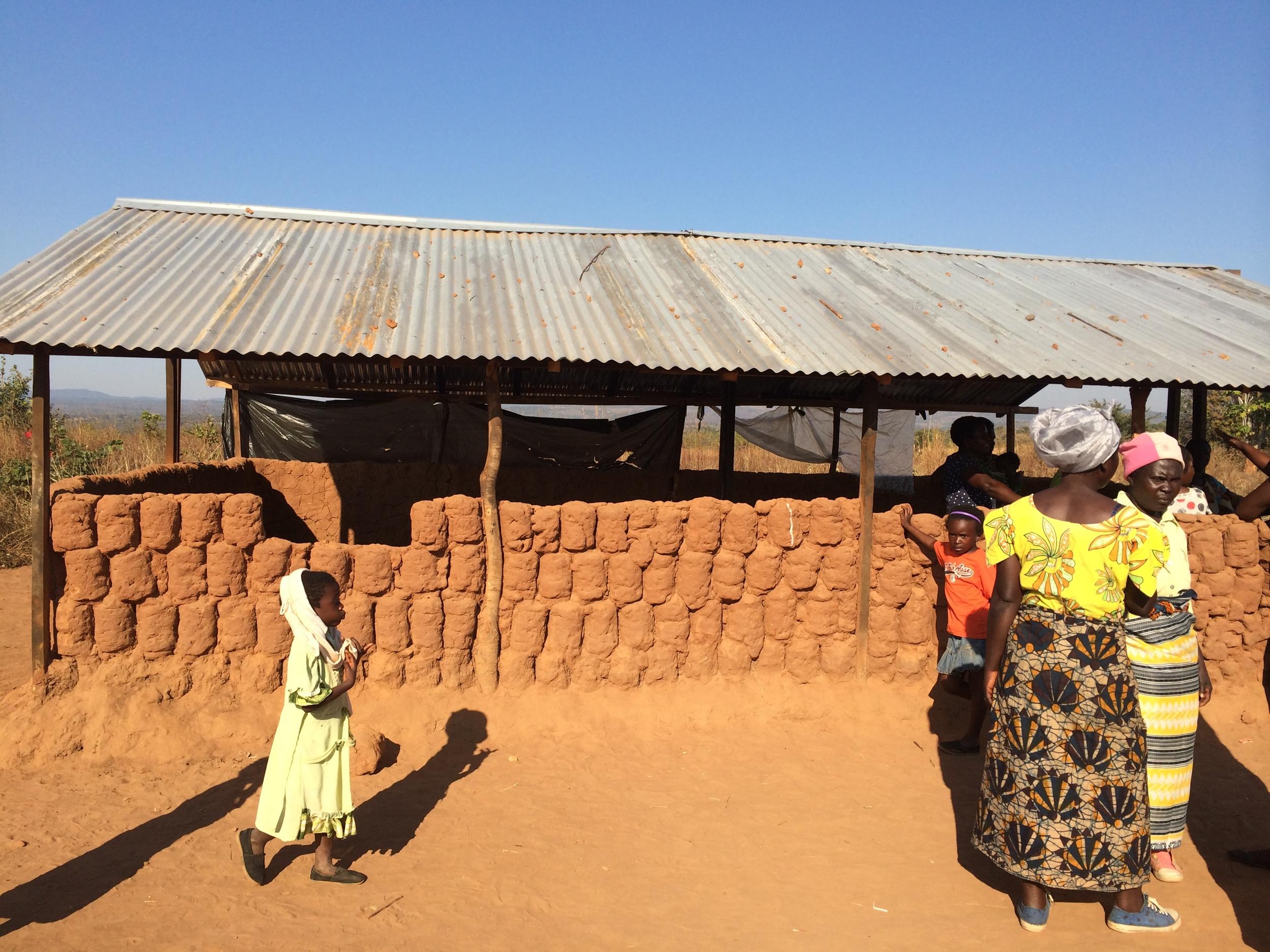The original structure at Muchochoma Village, with HANDMADE bricks.