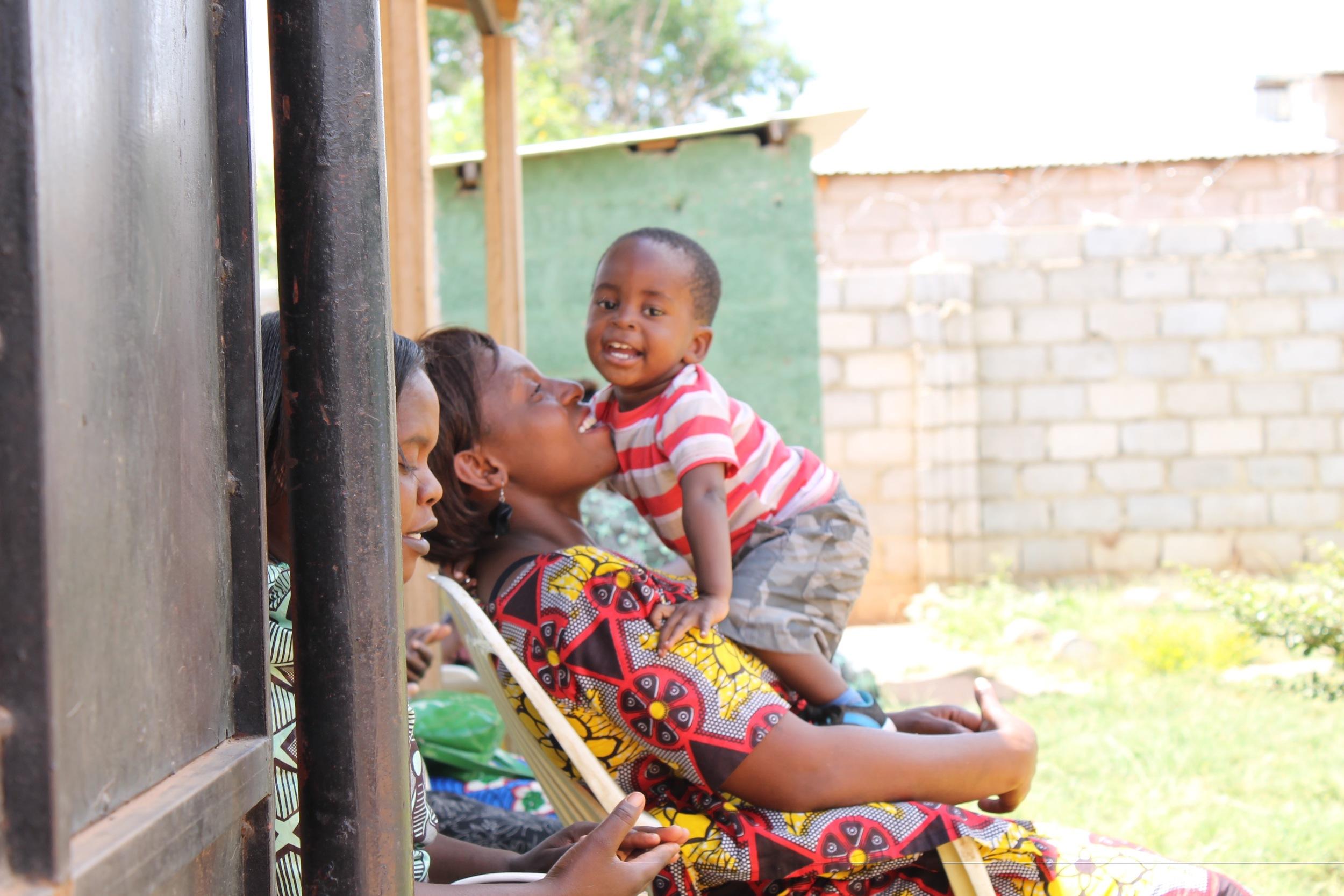 Mirriam and Temwani (her youngest child)