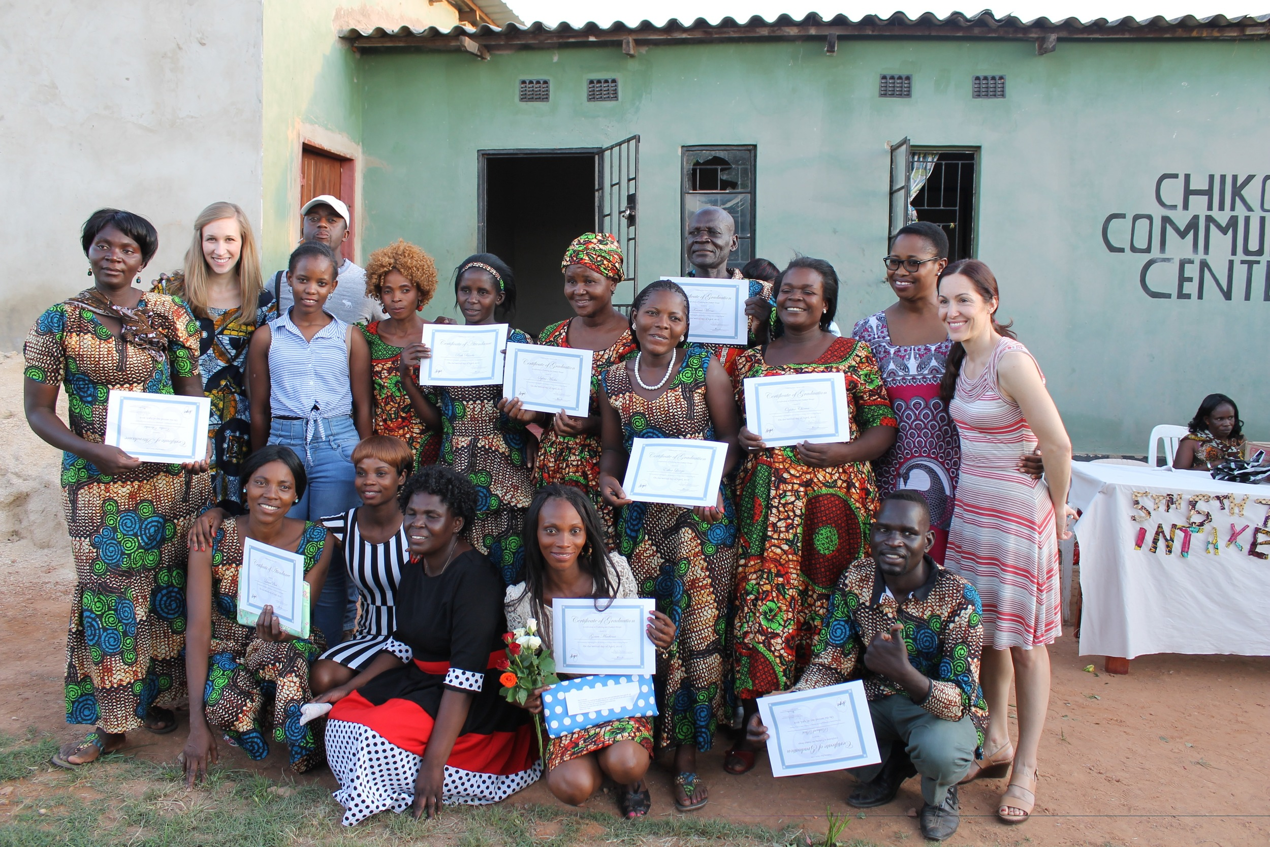 House of Moses Orphanage/CACZ graduates with HOM + CiH Staff