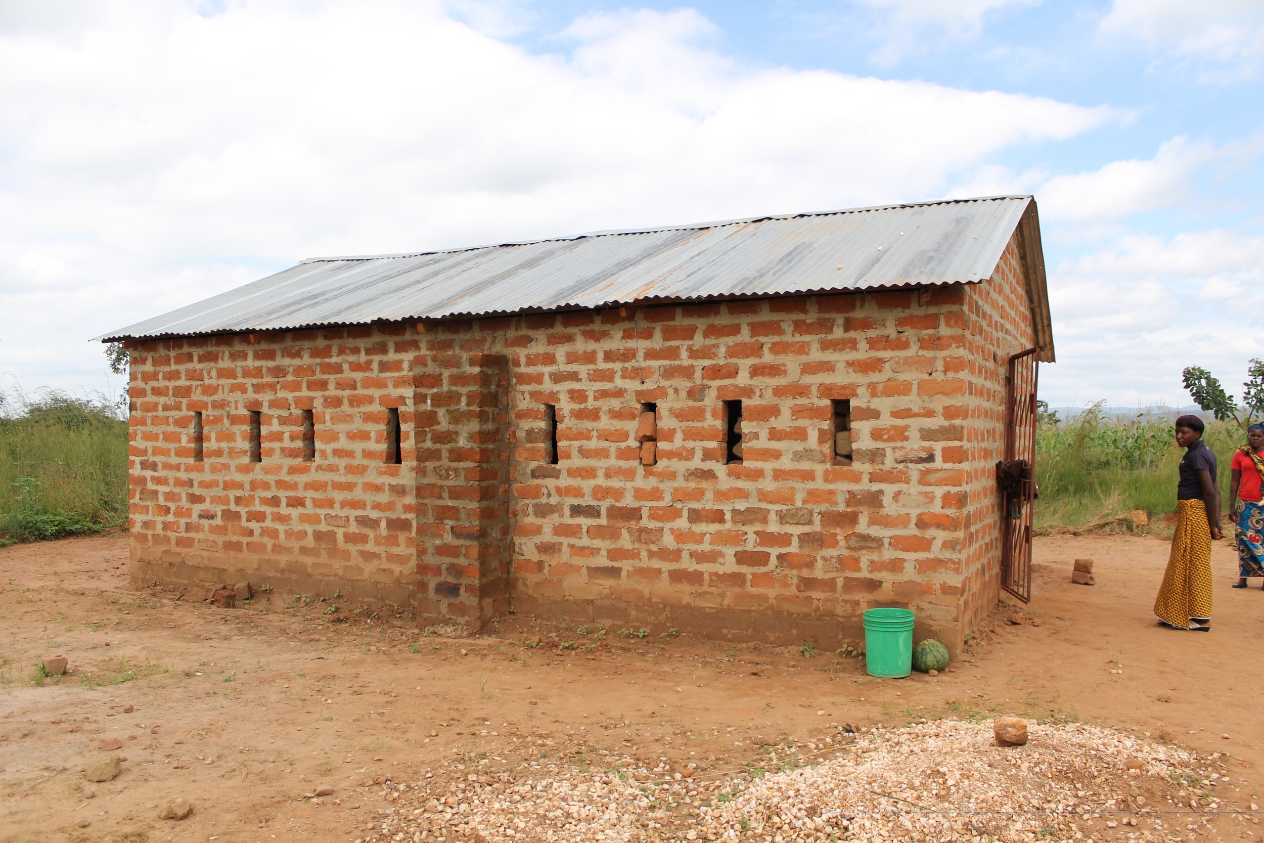 Three hours later, we pulled up to this BEAUTIFUL new Chikondi Community Center in Muchochoma Village, made possible by our amazing supporters/donors.