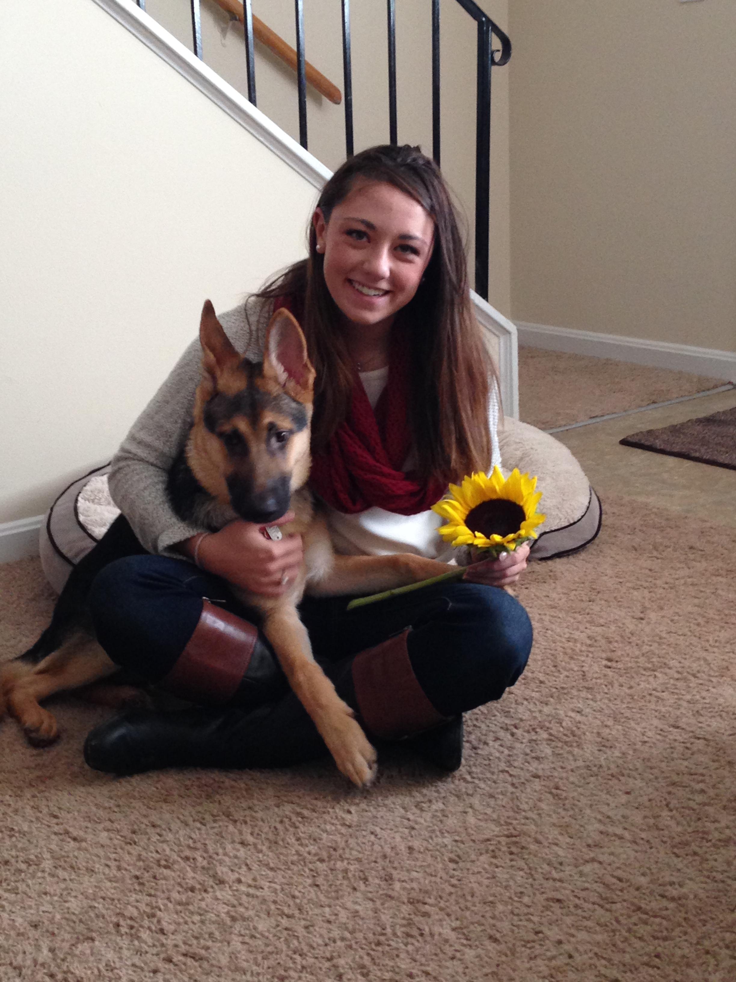 Me, Ashley, with my dog, Abu